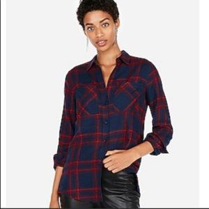 Express Boyfriend Plaid Flannel